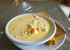 Seafood chowder - a staple on  menus in Nova Scotia