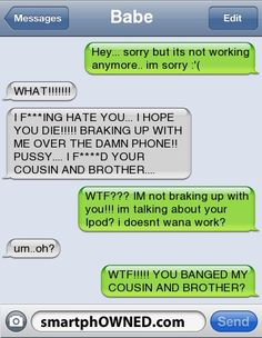 Page 72 - Relationships - Autocorrect Fails and Funny Text Messages - SmartphOWNED