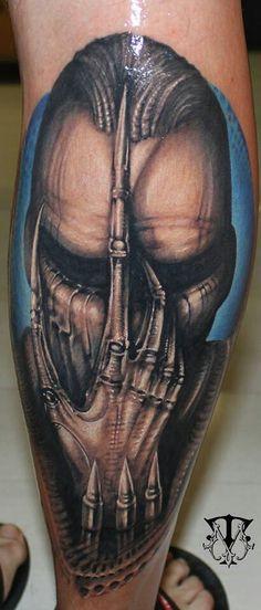 39 Best Giger Tattoo images | Giger tattoo, Hr giger ... H.r. Giger Tattoo