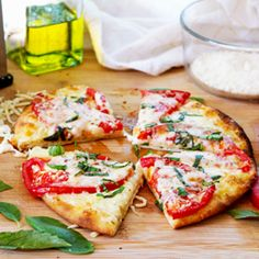 Margherita Pita Pizza for One, a quick and easy meal or snack featuring summer tomatoes!