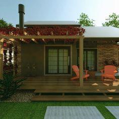 pergolado de madeira: Garagens e edículas rústicas por C. Schirmer Estúdio de Arquitetura e Urbanismo
