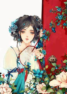 Anime artwork Tang Dynasty style....
