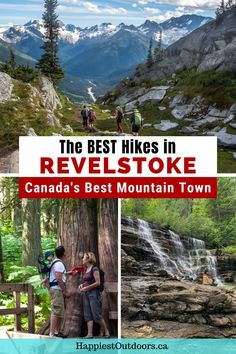 This list of the best hikes in Revelstoke, British Columbia has something for everyone. There are easy and short hikes for beginners, and challenging all day treks. Hike to mountain tops, alpine lakes, rainforests, and more. These Revelstoke hikes are beautiful. Best hiking trails in Revelstoke. Where to hike in Revelstoke, Canada. Canada National Parks, Parks Canada, Hiking Tips, Backpacking Tips, Columbia Outdoor, Best Hikes, Day Hike, Canada Travel, British Columbia