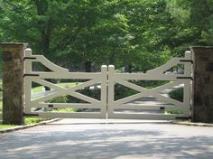 Gate for driveway.  Closest I'll get to the white picket fence