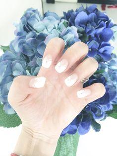 Wedding nails, bling, french manicure, bridal nails