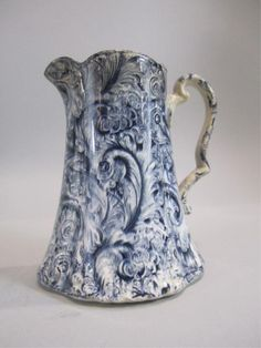 H49-2  BLUE PASLEY ENGLISH PITCHER