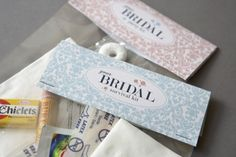 Cute idea. Bridal Party Survival Kit