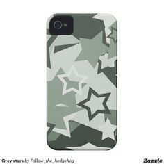 Grey stars iPhone 4 covers