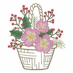 Baskets of Blooms 6 - 2 Sizes! | What's New | Machine Embroidery Designs | SWAKembroidery.com Ace Points Embroidery