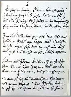 "RILKE manuscript beginning ""Sonette an Orpheus"" Rainer Maria Rilke, All Languages, Retelling, Recherche Google, Beauty And The Beast, Sheet Music, Novels, Poetry, Writers"