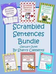 Scrambled Sentences are great for morning work, homework, or center time. This bundle includes 302 pages of fun.$