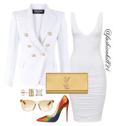 """""""Untitled #1340"""" by fashionkill21 ❤ liked on Polyvore featuring Balmain, Christian Louboutin, Yves Saint Laurent and RetroSuperFuture"""