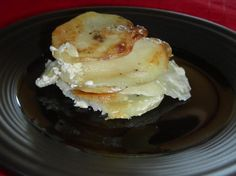 """Potato Gratin with Boursin.  Had these last night at """"Dining in the Dark"""" they were scrumptious."""