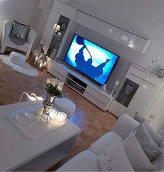 Home Design Decor, Interior Design Living Room, Living Room Designs, Home Decor, New Living Room, Living Room Decor, Living Spaces, All White Room, Living Room Inspiration