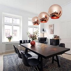 Buy Glass Mirror Ball Ceiling Pendant Light Modern Tom Dixon Lamp Chandelier HNK at Wish - Shopping Made Fun Dining Table Pendant Light, Modern Dining Table, Dining Rooms, Gold Ceiling Light, Ceiling Lamp Shades, Ceiling Lights, Tom Dixon Lampe, Artist Color, Copper Lamps