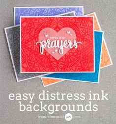 Video showing Distress Ink backgrounds by Jennifer McGuire Ink
