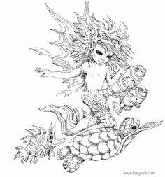 Pin by Barbara on coloring people, mermaid, fairy | Pinterest ...