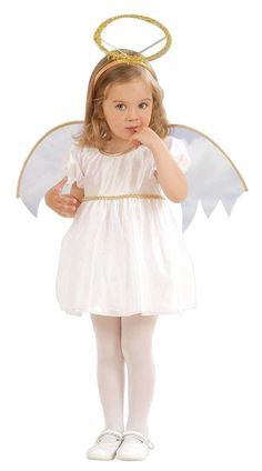 Angel costume for girls: Kids Costumes,and fancy dress costumes - Vegaoo Nativity Costumes, Angel Halloween Costumes, Christmas Costumes, Girl Costumes, Dance Costumes, Toddler Angel Costume, Christmas Dress Up, Childrens Fancy Dress, Dance Moms Girls