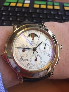 Il Destriero Scafusia Incoming  Not sure where to post given lack of IWC forum. Not one you see very often and based on the humble 7750 Valjoux movements with some cunning reworking to include a split Chrono perpetual repeater tourbillon Watch. Fabulous.   from watchProSite.com