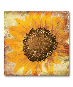 Look at this Flower of the Fall Wrapped Canvas on #zulily today!