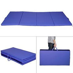 Blue 4x8x2 Gymnastics Mat Thick Folding Panel Gym Fitness Exercise Mat GoPlus >>> Click image to review more details. (Note:Amazon affiliate link)
