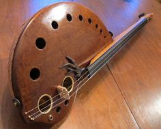 Handmade musical instrument with pickup The Root #wood