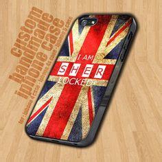 I Am Sherlocked Union Jack, British Flag, Vintage, Sherlock Holmes   - iPhone 4 / 4s Case - iPhone 5 Case - Black Case - White Case