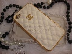 Chanel White Gold iPhone Case