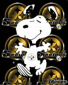 Steeler Snoopy.  YAY!  It's training camp season!