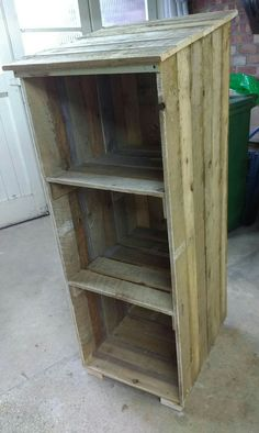 Unit for recycle boxes from pallets....