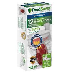 FoodSaver® 12 Liquid Block Heat-Seal Quart Bags at FoodSaver.com.