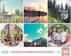 Fun Photos with Rhonna Designs & Instagram