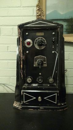 Antique Medical Electroshock Therapy Machine.
