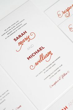 Modern + whimsical invitation by Shine Wedding Invitations