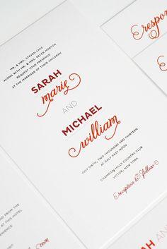 Modern + whimsical invitation by Shine Wedding Invitations