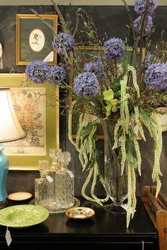 Sweet Something Designs: Little black dresser set with purple flowers. Lovely! | sweetsomethingdesign.blogspot.com