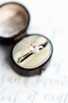 Why Etsy is your wedding shopping BFF during Coronavirus  Whether you're searching for your dream wedding dress, wedding rings, stationery, decor, etc, Etsy has everything you need!  #bridalmusings #bmloves #ido #wedding #weddingplanning #shopping #etsy #covid #corona Morganite Engagement, Gemstone Engagement Rings, Rose Gold Engagement Ring, Gemstone Rings, Morganite Jewelry, Rose Quartz Ring, Thing 1, 1 Carat, Pear Shaped