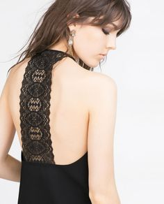 Image 6 of HALTER NECK TOP WITH LACE BACK from Zara