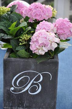 Initial flower pot