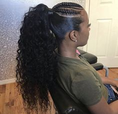 ponytail hairstyles black hair pictures trends 2020 Hair styling adds an additional beauty to a woman. Black or white, the hair style matters a lot in your Hair Ponytail Styles, Black Girl Braided Hairstyles, Braided Ponytail Hairstyles, Sleek Ponytail, African Braids Hairstyles, Fringe Hairstyles, Girl Hairstyles, Curly Hair Styles, Natural Hair Styles