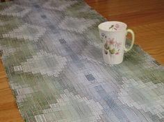 Hand Woven Table Runner Spring Home Decor Modern by LoomOnTheLake