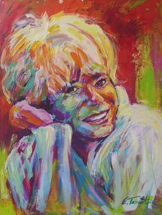 Ingrid Steeger - Acryl auf Leinwand 60 x 80 cm