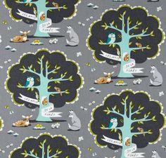 Les Amis gray mint fox owl tree nursery baby Sheet Boppy Changing Cover