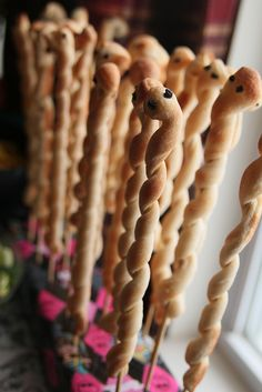 Snake Breadsticks - Deuce's Breadsticks - A Very Monster High Birthday Party -- The Food - Home - burgh baby