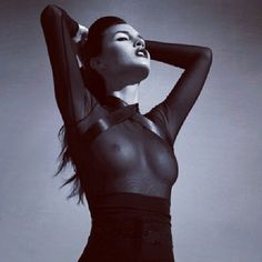 Lloyd Klein giraffe pants and black chiffon t-blouse - obscenely gorgeous #FASHION #supermodel #DESIGNER  #couture
