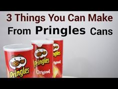 3 Things You Can Make From Pringles Cans - DIY Craft Projects