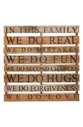 Second Nature by Hand 'In This Family' Repurposed Wood Wall Art