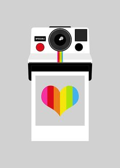 'Impossible Rainbow' poster. A version of my 'Instant Rainbow' designed for The Impossible Project.