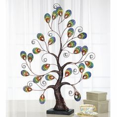 Peacock and Crystal Tree - Furniture, Home Decor and Home Furnishings, Home Accessories and Gifts | Expressions