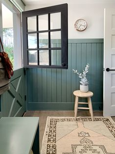 Evergreen House: Mudroom Reveal (and Our Favorite Moody Paint Colors!) - Juniper Home Evergreen House, Green Paint Colors, Hallway Paint Colors, Farmhouse Paint Colors, Tudor Style Homes, Interior Paint, Mudroom, Colorful Interiors, Small Spaces